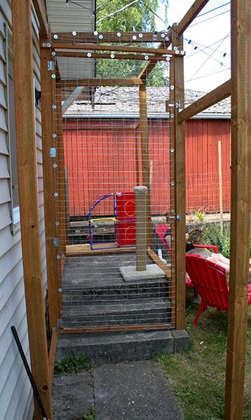 A cat enclosure.