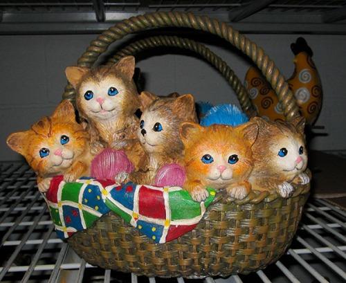 Basket of Kittens statue.