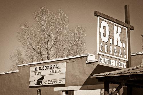 O. K. Corral sign